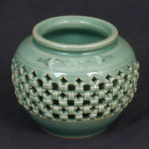 Small Double-ware Celadon Jar