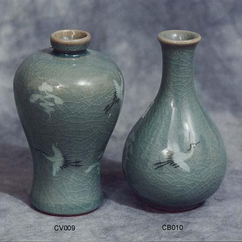 Crane Cloud Vase Bottle