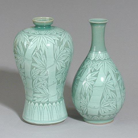 Korean Arts Vase Bottle Sets
