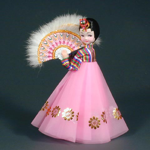 Fan Dance Doll