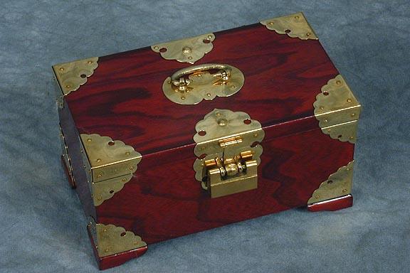 Wood Brass Jewelry Box