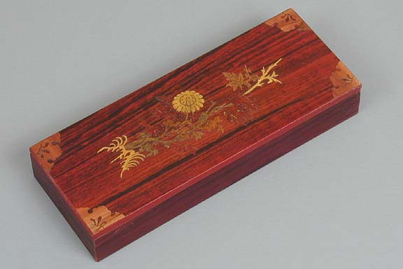 Inlaid Chrysanthemum Lacquered Box