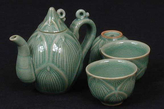 Bamboo Shoot Shaped Teapot Set
