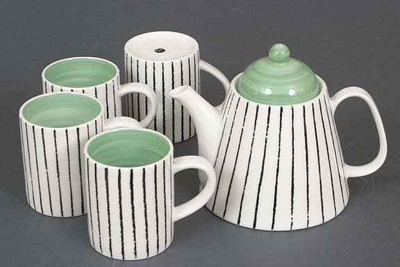 Green Modo Teapot Set