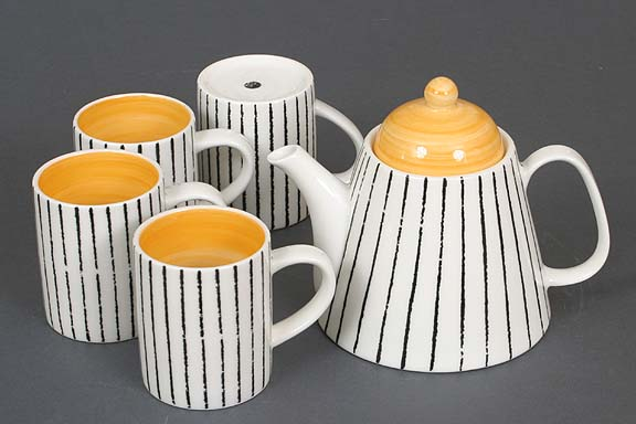 Yellow Modo Teapot Set