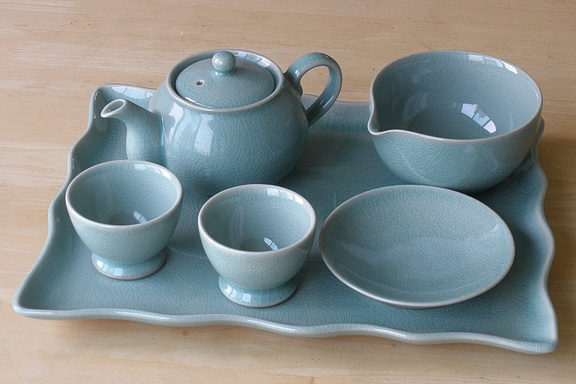 Western Teapot Serving Tray Set