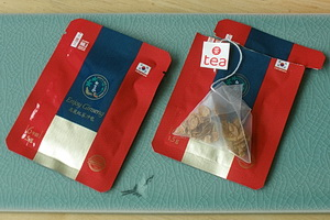 Korean Red Ginseng Tea Bags - open