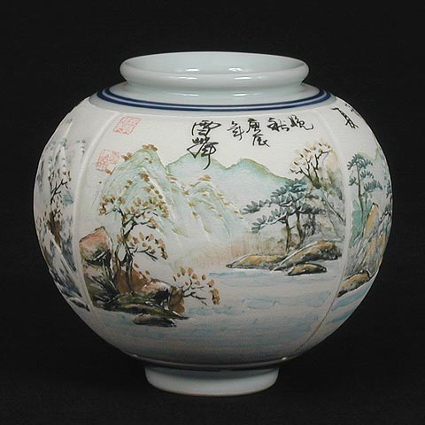 Korean Arts Korean Art White And Brown Porcelain Jars